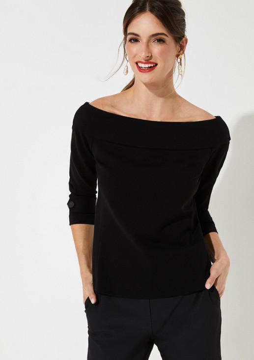 Elegantes Shirt mit U-Ausschnitt