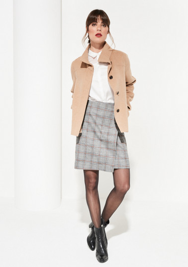 Wool jacket with a stand-up collar from comma