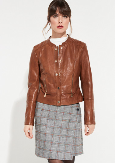 Biker-style lamb leather jacket from comma