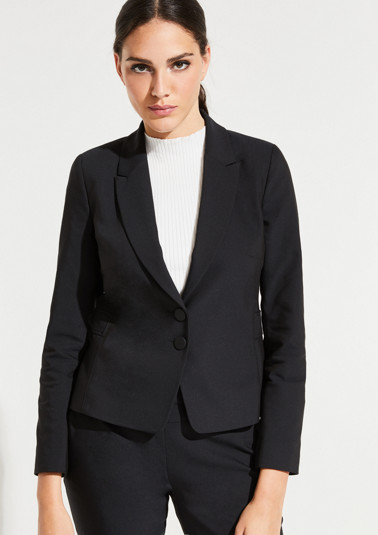 Business blazer with decorative details from comma