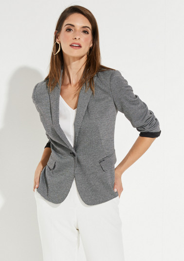 Blazer with a houndstooth pattern from comma