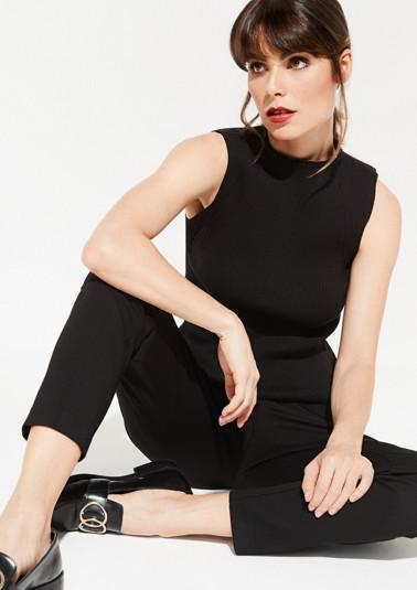 Ribbed sleeveless jumper from comma
