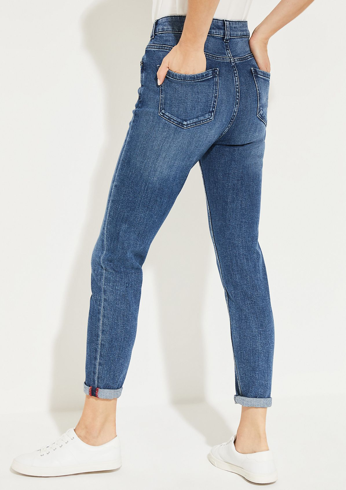 Lässige Jeans in Used-Waschung