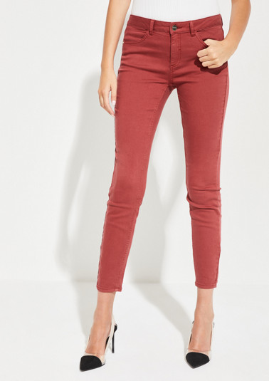 Skinny coloured denim jeans from comma