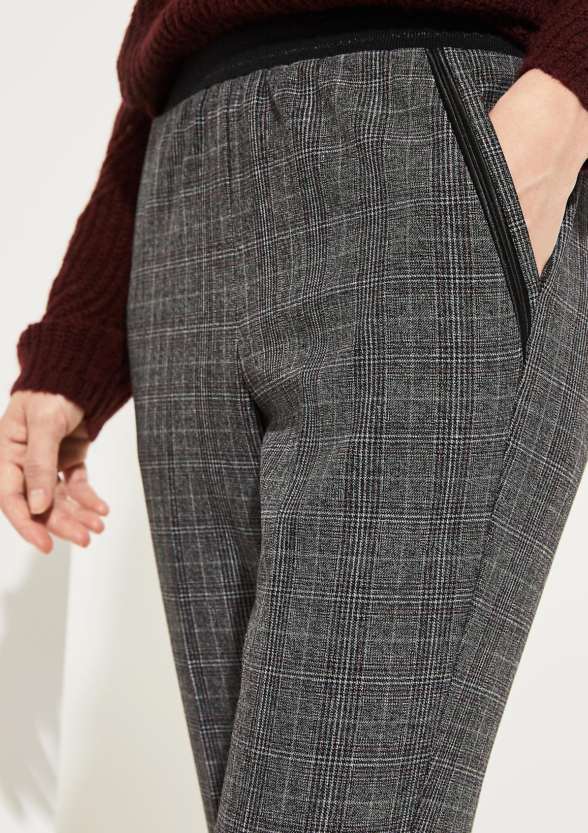 7/8-Loungepants mit Karomuster