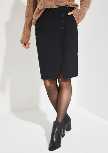 Wrap-over pencil skirt from comma