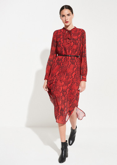 Chiffon maxi dress with an all-over snakeskin print from comma