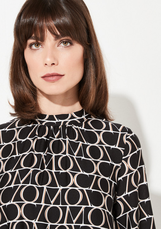 Dress with 3/4-length sleeves and sophisticated details from comma