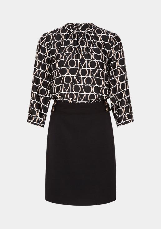 3/4-Arm Kleid mit raffinierten Details