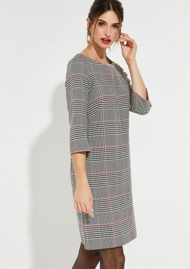 3/4-Arm Kleid mit klassischem Glencheckmuster