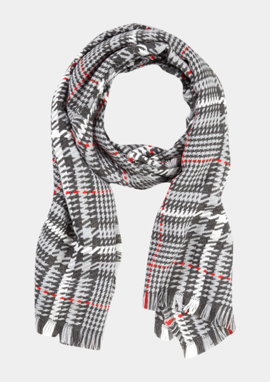 Wide scarf with a check pattern from comma