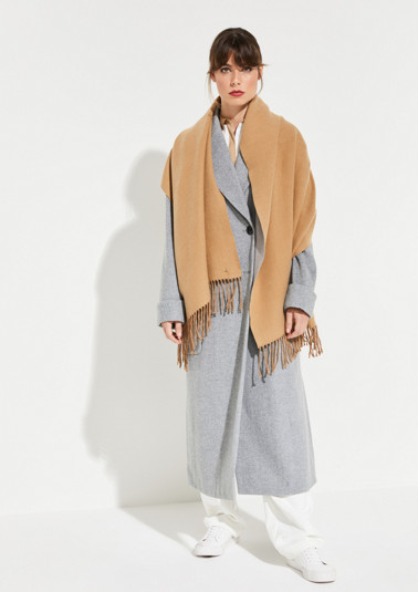 Soft winter scarf with long fringing from comma