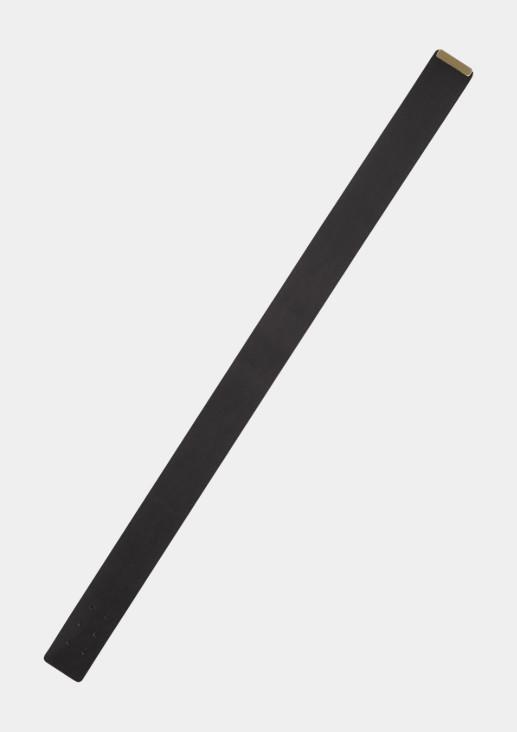Breiter Echtledergürtel mit Pin-Schließe