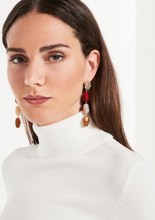 Ohrringe mit Schmucksteinanhängern