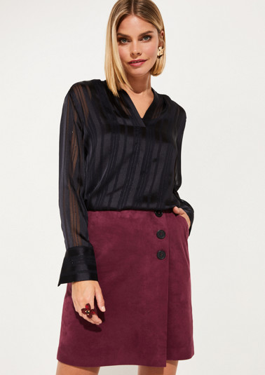 Delicate blouse with tonal striped pattern from comma