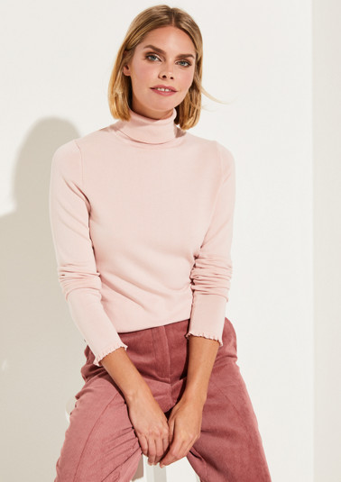 Fine knit polo neck jumper from comma