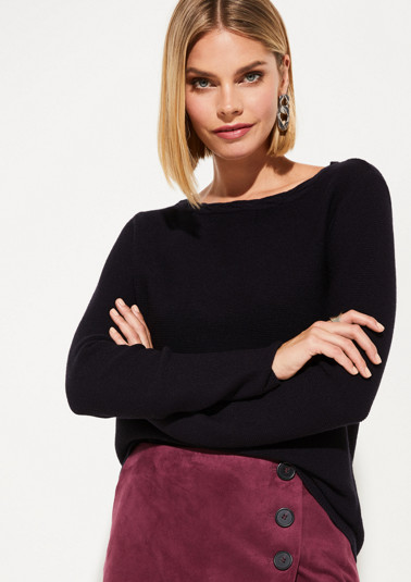 Knit jumper with decorative details from comma