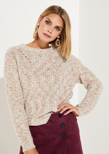 Chunky knit multicoloured jumper from comma