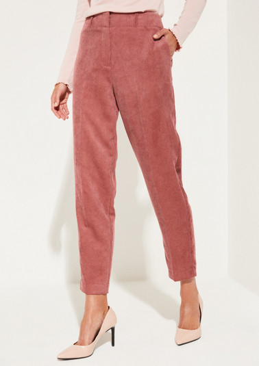 Needlecord trousers with exciting detailing from comma