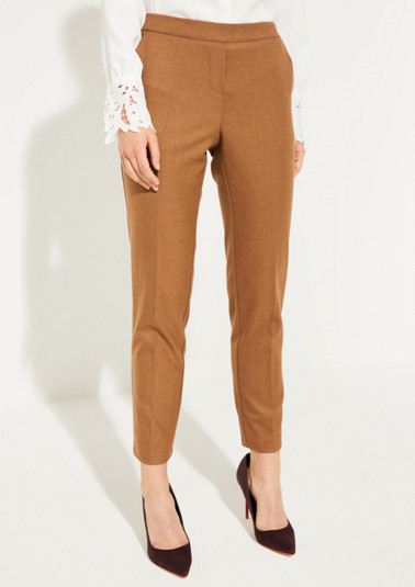 Flannel trousers with pressed pleats from comma