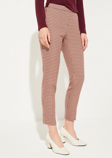Casual trousers with decorative all-over pattern from comma