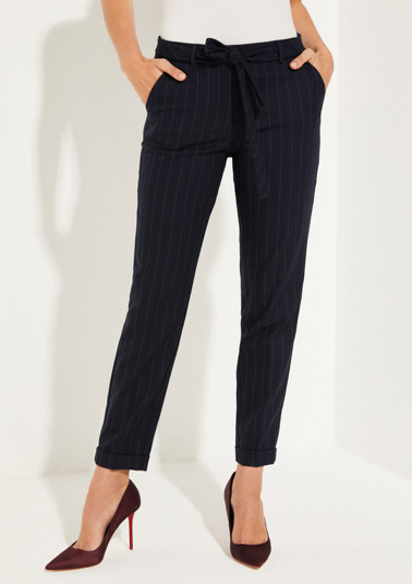 Trousers with a classic pinstripe pattern from comma
