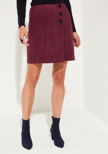 Short faux suede skirt from comma
