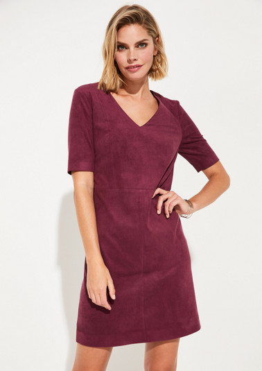 Faux leather short sleeve dress from comma