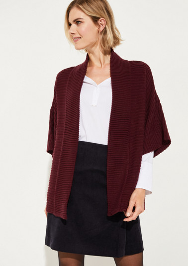 Chunky knit cardigan with short sleeves from comma