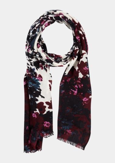 Foulard en fine maille à joli motif floral de Comma