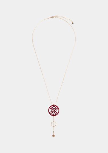 Long collier surmonté de pendentifs de Comma