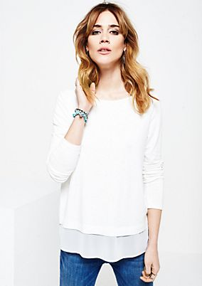 Casual long sleeve top in a sophisticated fabric blend from s.Oliver