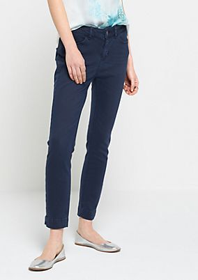 Casual 7/8-length trousers in a fine garment wash from comma