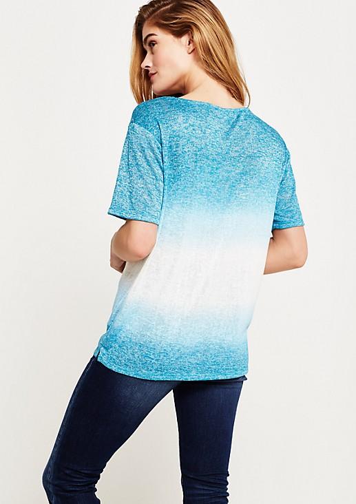Leichtes Kurzarmshirt mit raffinierten Farbfadings