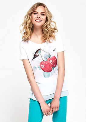 Short sleeve T-shirt with a statement print from s.Oliver