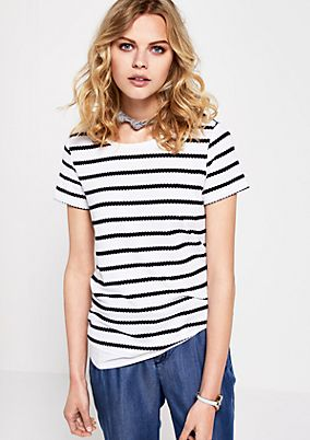 Knit top in a summery striped look from s.Oliver