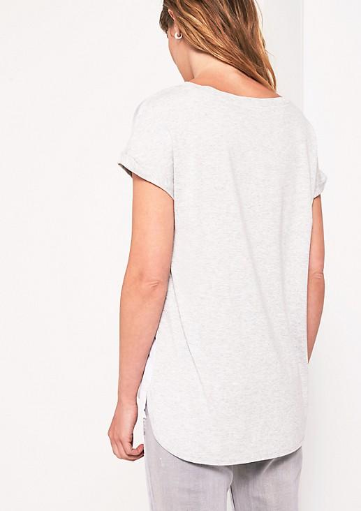 Kurzarmshirt mit farbenfrohen Frontprint