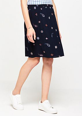 Chiffon skirt with a decorative pattern from comma