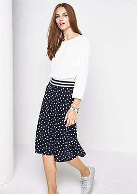 Long skirt with a polka dot pattern from s.Oliver
