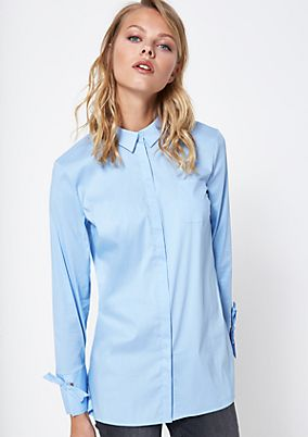 Classic shirt blouse with a breast pocket from comma