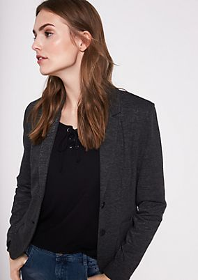 Businessblazer in feiner Melange-Optik