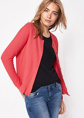 Cardigan with a concealed button placket from comma