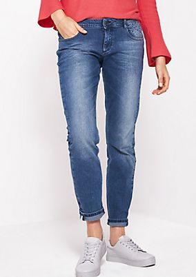 Five-pocket jeans with glittery decorative flat studs from comma