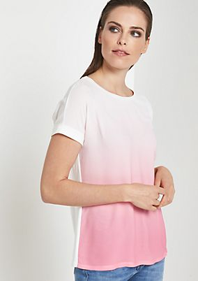 Lightweight short sleeve T-shirt with wonderful colour graduation from comma