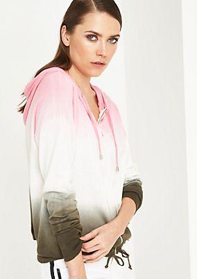 Hoodiejacke aus Strick mit smarten Farbverläufen