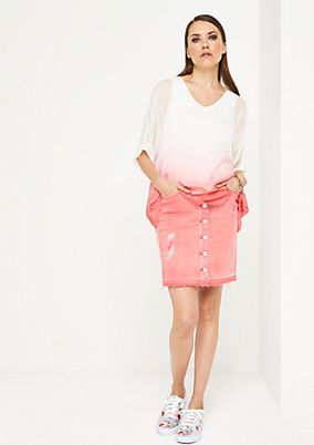 Delicate short sleeve blouse with smart colour gradation from comma