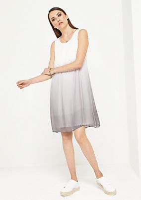 Delicate leisure dress with filigree colour gradation from comma