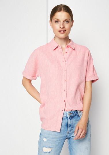 Sommerliche Bluse in Leinenoptik