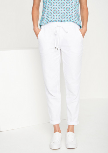 Casual lounge trousers with a drawstring panel from comma