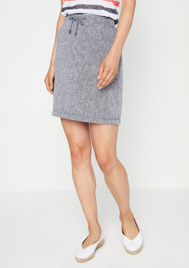 Summery mini skirt in a linen finish from comma
